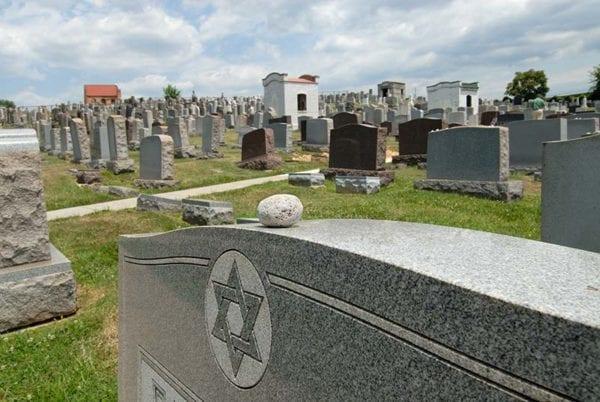 Stones on grave