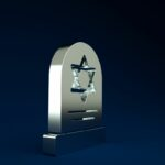 Houston Jewish Monuments with Star of David Engraving